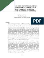 Pernikahan Dini Dan Implikasinya Terhadap Kehidupan Keluarga Pada Masyarakat Madura