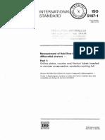ISO 5167-1 Medição de Vazão1991 - Inglês