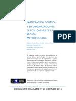 docsFAPARTICIPACIÓN POLÍTICA Y EN ORGANIZACIONES DE LOS JÓVENES DE LA REGIÓN METROPOLITANA