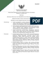 Permendagri 41 Tahun 2012 Tentang Pedoman Penataan Dan Pemberdayaan PKL