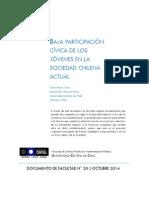 BAJA PARTICIPACIÓN CÍVICA DE LOS   JÓVENES EN LA SOCIEDAD CHILENA ACTUAL
