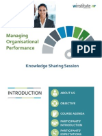 Managing Organisational Performance