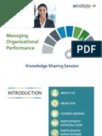 Managing Organisational Performance