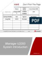 iManager U2000 Introduction