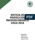 Noticia de Proyección Macroeconómica Chile 2016