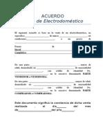 Acuerdo de Venta Electrodomestico