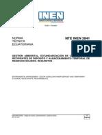 Nte Inen 2841 Estandarización de Colores Para Almacenamiento Temporal de Desechos