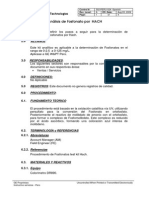 Analisis de Fosfonatos Por HACH