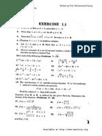 Chap 01 Solutions Ex 1 1 Calculus