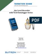 Radar Level Recorder With 9210 Datalogger Series