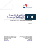 Ownership, Rental Costs and the Prospects of Building Home Equity