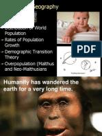 Geog 1 Geography of Population