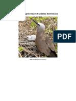 Aves Migratorias de Republia Dominicana