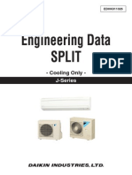 Daikin Engineering Data Split (Cooling Only) J-Series (2015)