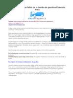 Cómo Diagnosticar Fallas de La Bomba de Gasolina Chevrolet Aveo