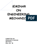 Engineering Mechanics pdf | Kinematics | Force