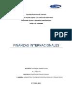 Primer Informe de Finanzas Internacionales