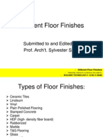 Different Floor Finishes - REVISED