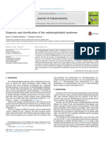 2014 Diagnosis and Classification of the Antiphospholipid Syndrome