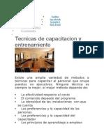 Tecnicas de Capacitacion y Entrenamiento