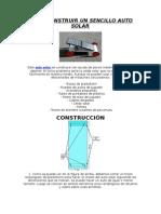 Como Construir Un Sencillo Auto Solar