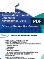 Presentation Annual Report Audit 2015