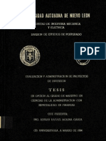 Tesis de Evaluacion y Administracion Deproyectos Deinversion