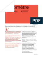 Baromètre Lorraine - Octobre 2015