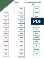 Antónimos e Sinónimos,PDF