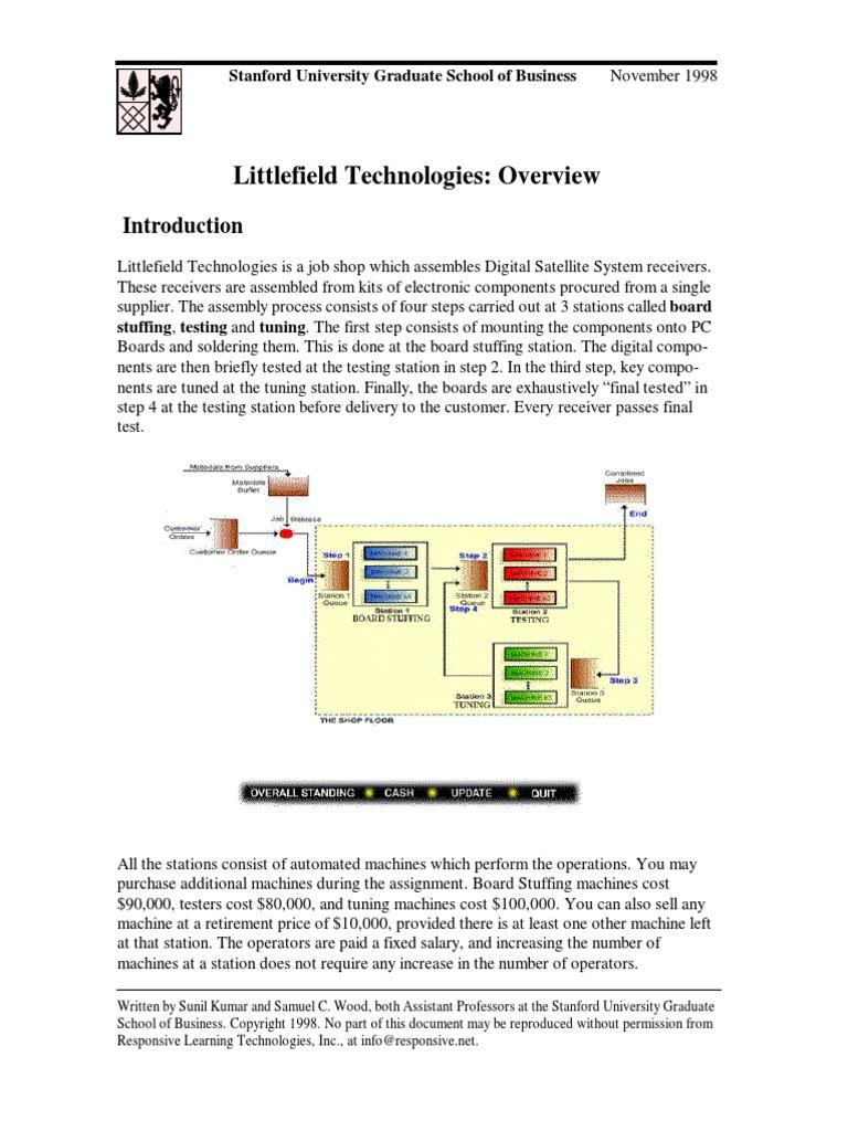 littlefield technologies simulation