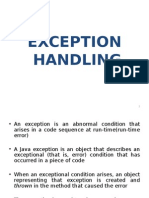 Exception Handling by manipal techh