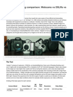 Planetary Imaging Comparison Webcams vs DSLRs vs Planetary Cams