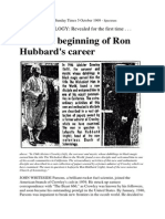 The Sunday Times - The odd beginning of Ron Hubbard's career