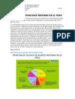 TASA DE MORTALIDAD MATERNA EN EL PERU
