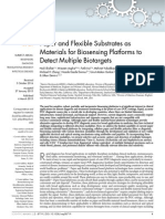 Paper and Flexible Substrates as Materials Fos Biosensing
