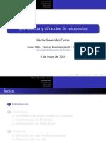Interferencia y difracción de microondas