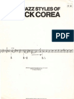 The Jazz Styles of Chick Corea (62 Pages)