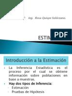 estimaciones e intervalos de confianzaUNI