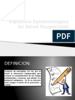 Programa de Vigilancia Epidemiologica