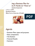 Developing a Business Plan for Hazelnuts