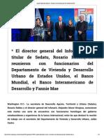 25 - 11 - 2015 Asiste Alejandro Murat a reunión con funcionarios de vivienda de EU