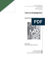 Cuadernos de Antropologia Nro 26 - 2007 - Revista Dossier Antrec
