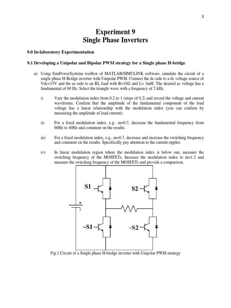 exp9 | Power Inverter | Modulation