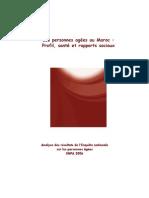 Les Personnes Âgées Au Maroc - Profil, Santé Et Rapports Sociaux. Analyse Des Résultats