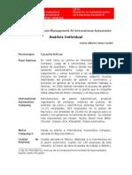 CarlosVelez Analisis Individual International Automotive Company