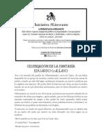 Eduardo Galeano - Celebración de La Fantasía