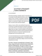 ¿Podemos Criticar a Foucault_ Foucault Como Neoliberal