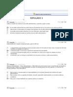 A. Apredizado. Direito Administrativo II