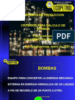 CURSO BOMBAS CENTRIFUGAS