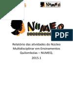 Relatório Das Atividades Do Núcleo Multidisciplinar Em Ensinamentos Quilombolas